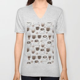 Coffee Cups Unisex V-Neck
