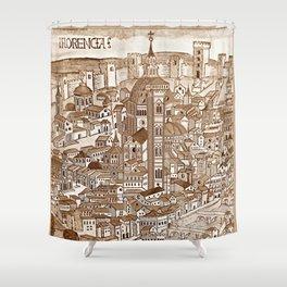 Florencia Sepia Shower Curtain