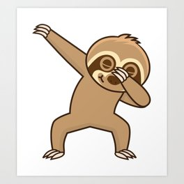 Sloth dab Art Print