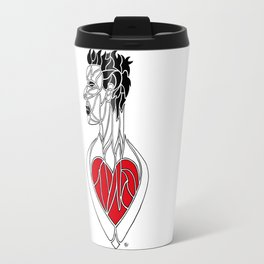 Esprit et Ame ; Coeur Rouge / Spirit and Soul ; Red Heart Travel Mug