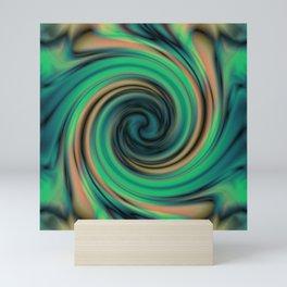 Green Maelstrom Mini Art Print