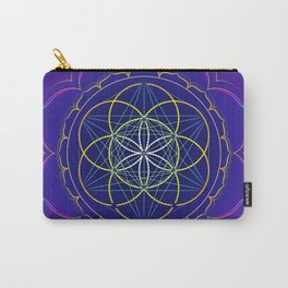 Seed of Life in the Metatron's cube mandala Carry-All Pouch