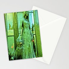 The mysterious girl. Stationery Cards