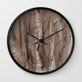 Kiss Me - Vintage - Modern Art Abstract - Picasso Style Wall Clock