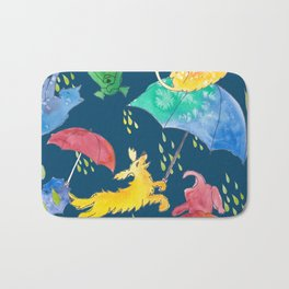 RAINING DOGS AND CATS WKS Bath Mat