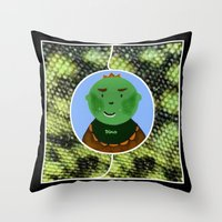 dino Throw Pillows featuring Dino by Jolly Songbird