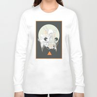 stone Long Sleeve T-shirts featuring moon stone by Cassidy Rae Marietta