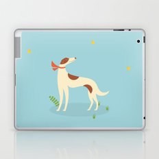 Borzoi And Butterfly Laptop & iPad Skin