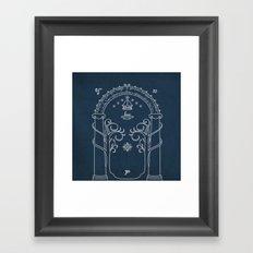 Speak friend and enter Framed Art Print