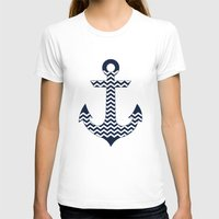 anchor T-shirts featuring Anchor by Paula Belle Flores