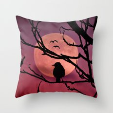 Moonlit dusk Throw Pillow