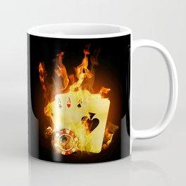 Burning Poker Cards Coffee Mug