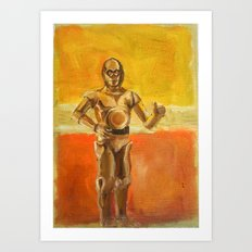 C3PO and Rothko Art Print