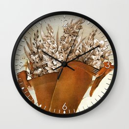 Gladiolous Wall Clock