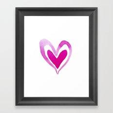 Watercolor Heart 2 Framed Art Print
