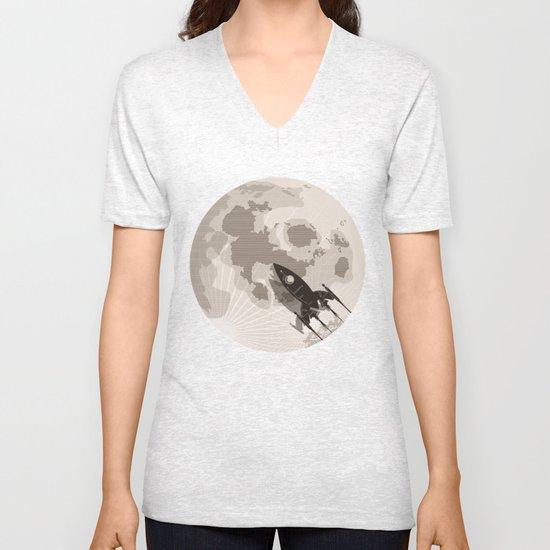 Around the Moon Unisex V-Neck