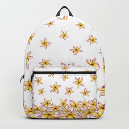 Lillies - Handpainted pattern - white background Backpack