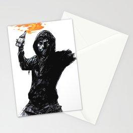molotov man Stationery Cards