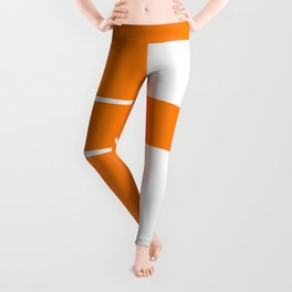 Team Color 6...orange,white Leggings