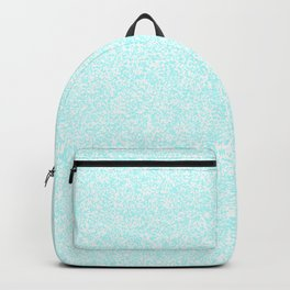 Spacey Melange - White and Celeste Cyan Backpack