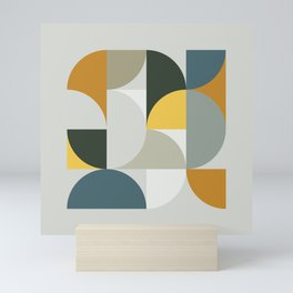Mid Century Geometric 13 Mini Art Print