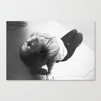 anonymous Canvas Prints featuring Anonymous by Hilary Dow