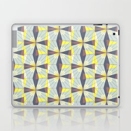 It's complicated. Bold geometric pattern in marsala, yellow and charcoal. Laptop & iPad Skin