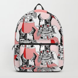 Red Ruby Robot Head Backpack
