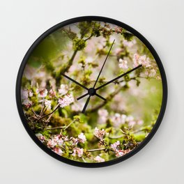 Blooming Lichen Tree Wall Clock