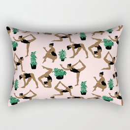 yoga with plants Rectangular Pillow
