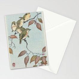 Birds on a branch (1900 - 1936) by Ohara Koson (1877-1945) Stationery Cards