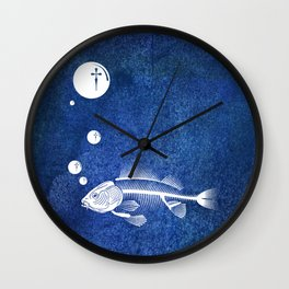 Fishing Future Wall Clock