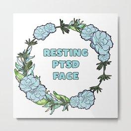 Resting PTSD Face Metal Print