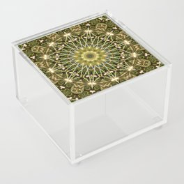 Geometric Forest Mandala Acrylic Box