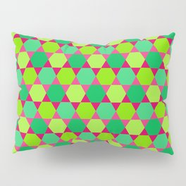 Pattern of Hexagons and Triangles Pillow Sham