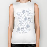 lotr Biker Tanks featuring Shire Toile by Jackie Sullivan