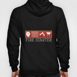 Mens Fire Starter product   Cook Butcher BBQ Grilling Tee Gift Hoody