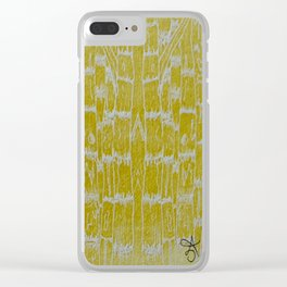 Yellow Sugarcane Clear iPhone Case