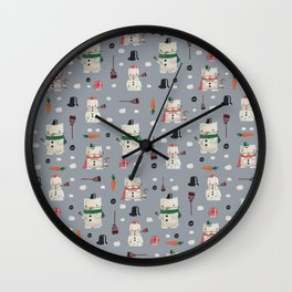 Snowanimals Wall Clock