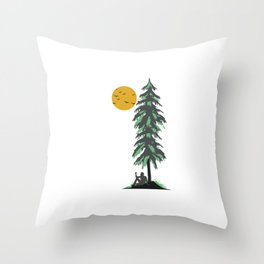 Be Wild Pine Tree Nature Lovers Trees Planting Forest Environmentalist Gift Throw Pillow