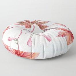 Japanese Maple Leaves Floor Pillow
