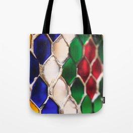 Multi colour wire pattern Tote Bag