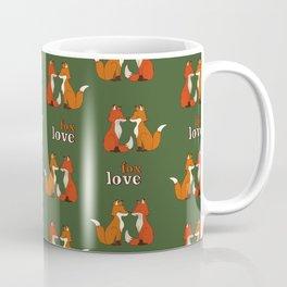 fox couple pattern Coffee Mug