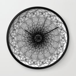 Spiral Growth Patterns of Sunflowers Wall Clock