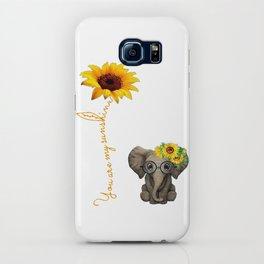 You Are My Sunshine Hippie Sunflower Elephant iPhone Case