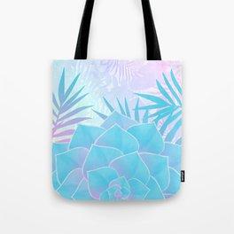 Pastel Rainbow Tropical Flower Paradise Design Tote Bag