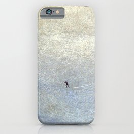Plight of the Lonely Skier, Snowy Alpine Landscape by Cuno Amiet iPhone Case