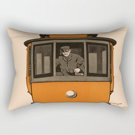 History of the Trolley car 1905 Rectangular Pillow
