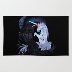 Starwars with unicorns (black) Rug