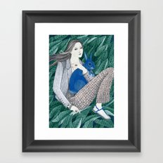 Blue Bunny Framed Art Print